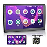 2021 New 10 Inch Android Car Radio Double Din Car Stereo System Touchscreen Head Unit with Bluetooth+FM +GPS+WiFi Mirror Link for iOS/Android with Dual USB Input + Backup Camera