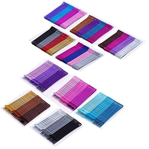 Justbuy 240pcs Multi Colored Bobby Pins Purple Blue Hair Pins 2 Inches Metal Barrettes Cute Hairpins Decorative Hair Accesories for Women Girls
