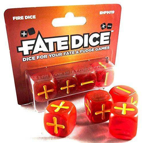 Evil Hat Productions EHP09019 Fate Dice: Fire Dice - Juego de Mesa [Importado de Alemania]
