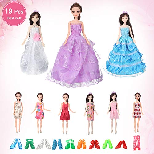 White Lace Short Gown with Great Details Made to Fit Barbie Doll