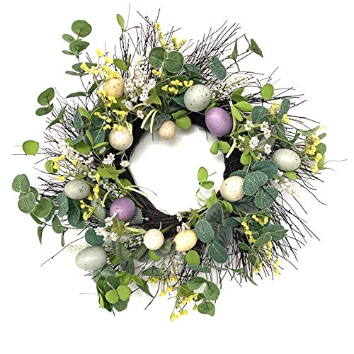 Wreath Easter Wreath Easter Eggs Garland Wall Hanging Easter Decorations Home & Garden Home Decor
