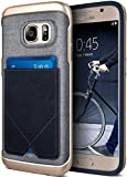 Caseology Messenger for Samsung Galaxy S7 Case (2016) - Leather Card Holder - Navy Blue