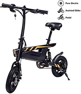 Convincied Aurora 15.74'' Electric Bicycle 36V/6A Lithium-Ion Battery Ebike 250W Powerful Motor,25Km/h (Full Electric Drive Can Drive 25-30km)