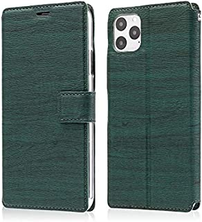 Apple Leather Case Compatible with iPhone 11 Pro Max Case, Ultra-Thin Tree Texture Mobile Phone Anti-Fall Protection Flip ...