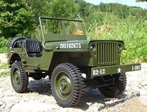 RC Maxi Jeep Willys mit LICHT & AKKU Länge 34cm Ferngesteuert 2,4GHz