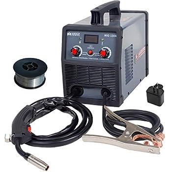 Amico MIG-130A 130 Amp MIG/Flux Core Wire Welder 115/230V Dual Voltage IGBT Inverter Welding Soldering Machine