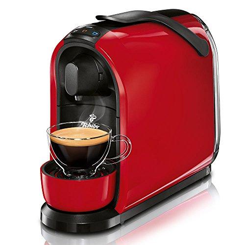 Tchibo Cafissimo Pure Kapselmaschine (für Kaffee, Espresso, Caffé Crema und Tee) rot