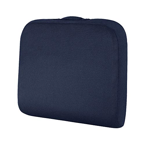 baibu Large Coccyx Pain Relief Wheelchair Office Chair Cushions, Memory Foam Sciatica Car Seat Cushion - Blue 48x43x7.5cm