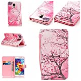 Qiaogle Téléphone Coque - PU Cuir Rabat Wallet Housse Case pour LG K5 (5.3 Pouce) - YB11 / Pink...