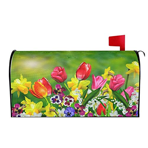 Bardic Unimagic Magnetic Mailbox Cover Galloping Horse Flower Mailbox Wraps Letter Post Box Cover Standard Large Size Mailbox Makeover