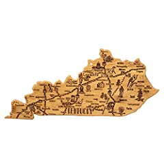 Celebrate life in The Bluegrass State with this beautiful bamboo cutting board in the shape of Kentucky with permanent, laser-engraved artwork Fun, whimsical laser-engraved artwork calls out all the wonderful sights and places in the state from Louis...