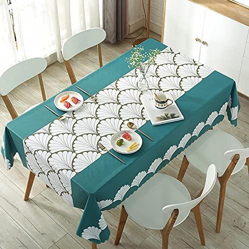 XXDD Mantel de plástico Rectangular/Redondo Impermeable a Prueba de Aceite Cubierta de Mesa Estilo Pastoral manteles Impresos para Banquete de Boda A11 140x180cm