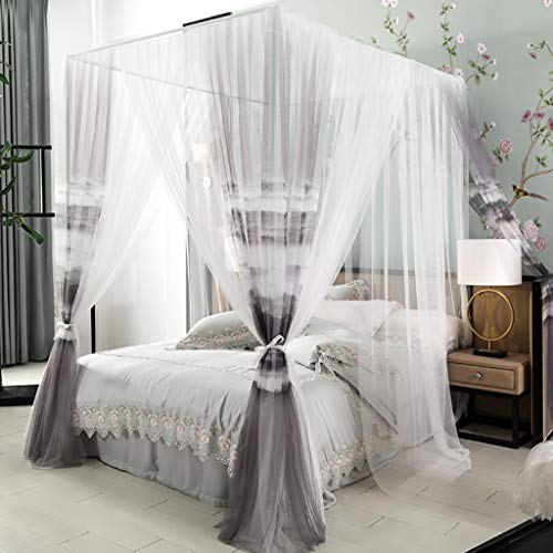 Best Buy! MUQING Double-Layer Mosquito Net Court Family Princess Wind 1.5M1.8 M Bed Pattern Account ...