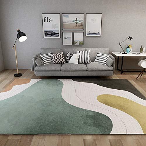 LLGHT Alfombras Salas de Estar Hogar Alfombras de Gran Área Alfombras Abstractas Modernas Alfombra de Dormitorio Pasillo de La Habitación de, Marroquí 160 * 230 (Color : 2, Size : 80×160CM)