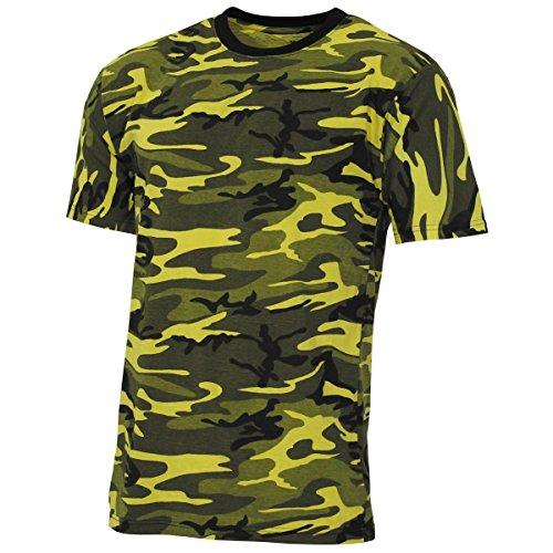 MFH 00131Q US Army Herren Tarn T-Shirt Streetstyle (Gelb Camo/M)