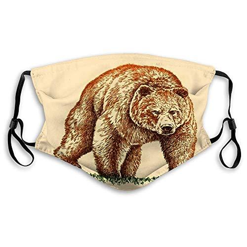 Komfortabel Schutzhülle,Staubschutz Gesichtsschutz,Unisex Mehrweg Gesichts,Skelett Silhouette Clipart Bandana,20x15cm