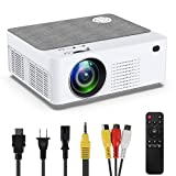 Mini Video Projector, Portable Outdoor Home HD Projector,2021 Upgraded 5500 Lux 180 Inch LCD Projector, Compatible with Smartphone, TV Stick, Smartphone, HDMI, VGA, AV, USB