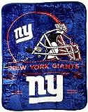 Officially Licensed NFL New York Giants 'Prestige' Plush Raschel Throw Blanket, 60' x 80', Multi Color