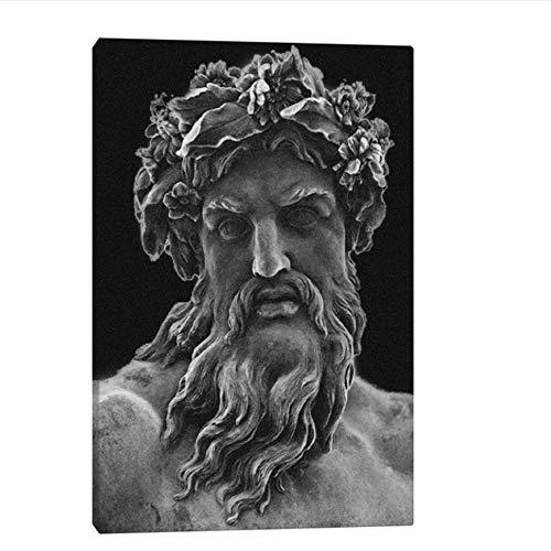 YaShengZhuangShi Leinwand Kunst Wände Gemälde 50x70cm ohne Rahmen Griechischer Zeus Gott Mythologie Gemälde für Wohnzimmer zu Hause Schlafzimmer Studie Wohnheim Dekoration Drucke