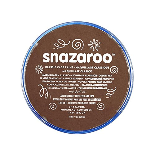 Snazaroo- Pintura facial y Corporal, 18 ml, Color marrón claro, 0 (Colart 18988)