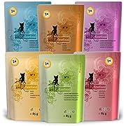 Catz finefood Multi-Pack 12 x 85 g bags, gourmet cat food, wet, various varieties in mix package.