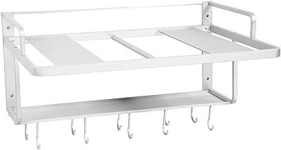 Estantería de cocina, mikrowellenh Projector Acero Inoxidable Microondas Horno 452097Soportes de pared con ganchos Microondas Soporte multifunción gancho para cocina