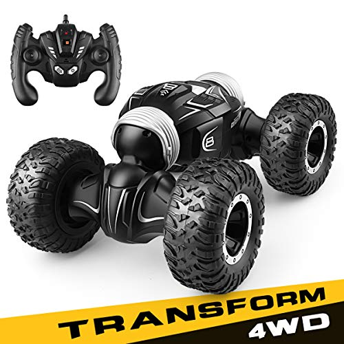 WEEKSTART RC Car, High Speed Racing Off Road Vehicle Toy, 1: 16 2.4Ghz Double-Sided Climbing Transforming Remote Control Truck - Nice Gift for Kids