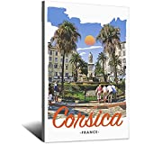 ASFGH Korsika Frankreich Vintage Reise Poster Dekor Malerei