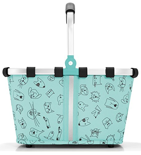 reisenthel carrybag XS kids Einkaufskorb 33,5 x 18 x 19,5 cm / 5 l / cats and dogs mint