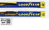 2014-2015 Jeep Cherokee Replacement Wiper Blade Set/Kit (Set of 2 Blades) (Goodyear Wiper Blades-Premium)