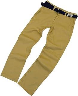 男の子 綿混 カジュアルパンツ 男児 ボーイズ 冠婚葬祭 卒業式 ベルト付 パンツ ソフトフォーマル fo-63708