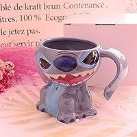 クリエイティブ3D漫画セラミックコーヒーカップウォーターカップ誕生日プレゼント (ステッチ2)