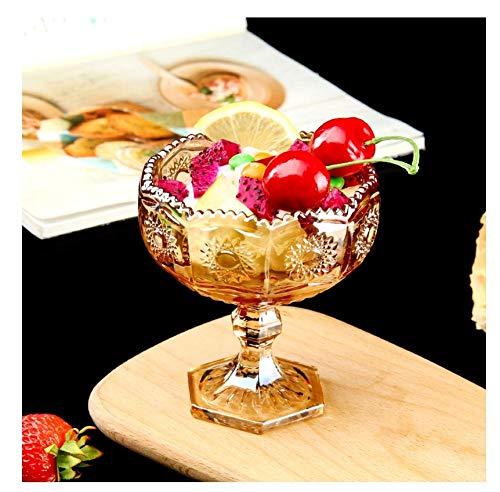 Ykun Copa de Helado, Copa de Fruta de Vidrio, Taza de Postre de té con Leche, tazón de Helado Creativo casero-re