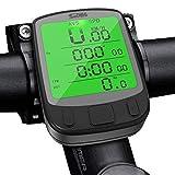 SPLAKS Cuentakilómetros para Bicicleta de múltiples Funciones, Impermeable,Pantalla retroiluminada, Gran LCD...
