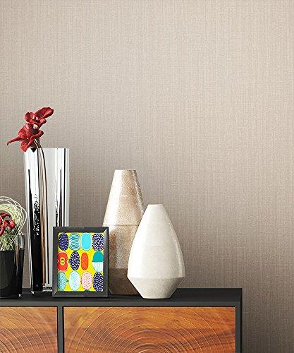 NEWROOM bloempot turquoise vliesbehang bloemenpatroon / motief mooie moderne en elegante design look, inclusief behanggids effen Uni2