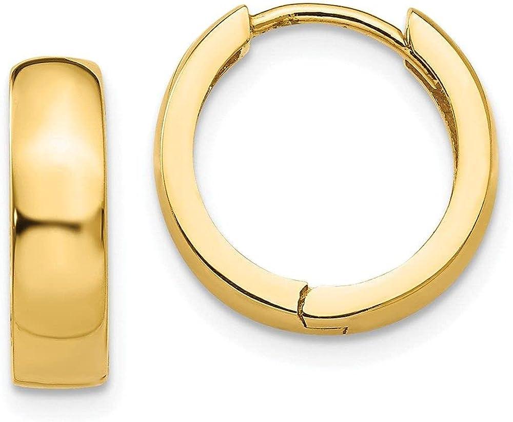Jewelry-14k Round Hinged Hoop Earrings