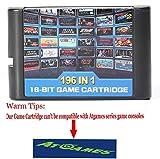 196 Jeux à chaud dans une cartouche pour consoles Megadrive Genesis. Fonctionne parfaitement dans un système Sega Genesis, Nomad ou Mega Drive d'origine, modèle 1 ou 2. Retron 3, Retro Trio, Genesis 3 et RetroAD fonctionnent également parfaitement. N...