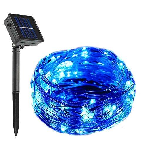 Lumières solaires de Ficelle de Fil de cuivre, 200 LED 72ft / 22M lumières de chaîne étoilées extérieures imperméables pour la fête en Plein air de Jardin