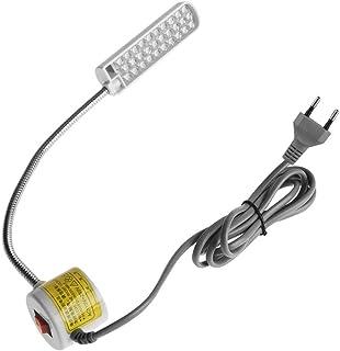 Luz LED de costura, luz LED de trabajo con cuello de cisne ajustable con base de montaje magnético para uso en estudio, tornos, prensas de taladro(Enchufe de la UE 30-LED (lámpara en forma de arco))
