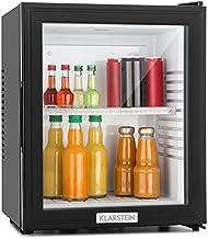 Klarstein - MKS-12, mini frigo bar, A, 24 L, silenzioso, basso consumo, 0 db, ca. 38 x 47 x 38 cm, 1 ripiano, sportello in vetro, temperatura regolabile 3 livelli, nero opaco, nero