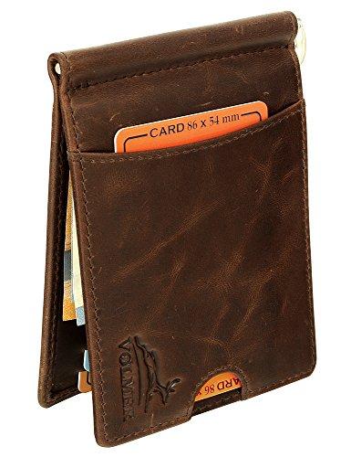 Fa.Volmer® Money Clip portemonnee met klem en RFID-bescherming