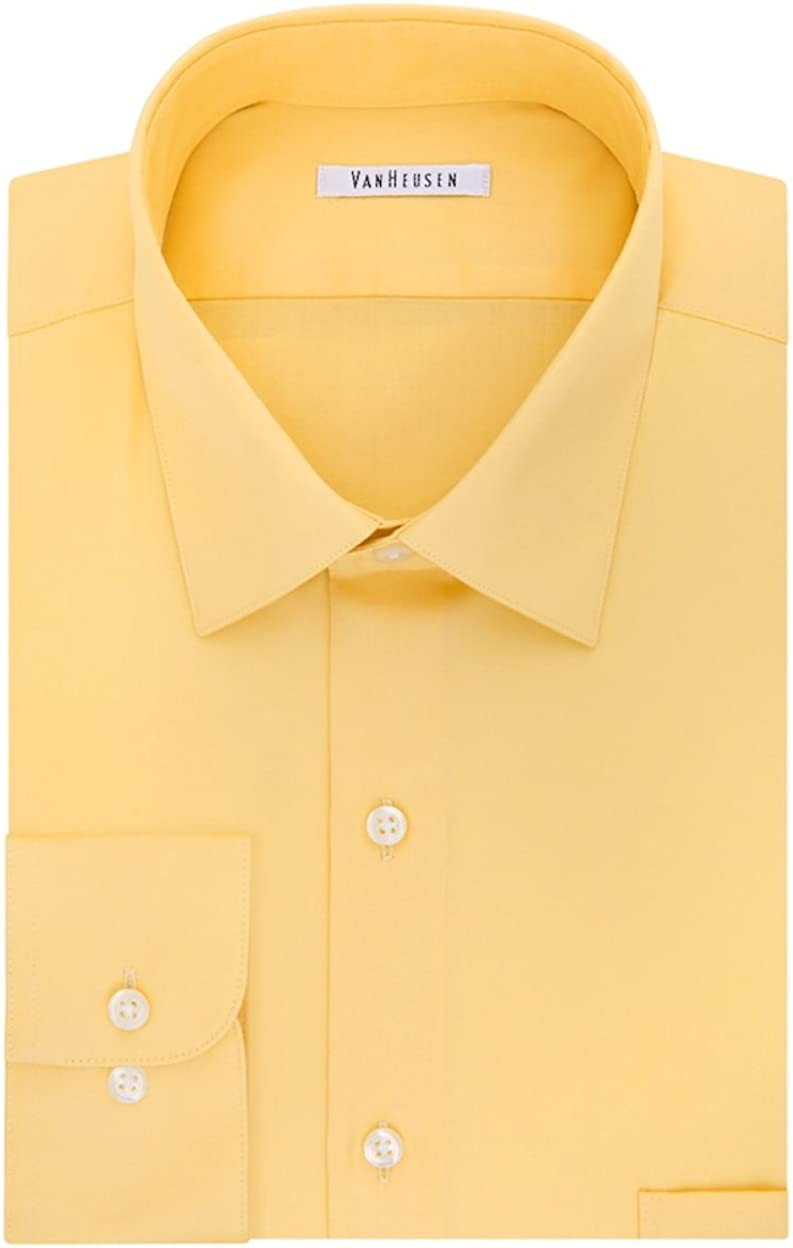 Van Heusen Slim-Fit Lux Sateen No-Iron Dress Shirt