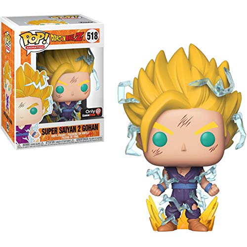 Super Saiyan 2 Gohan (GameStop Exclusive): Dragonball Z x Funko POP! Animation Vinyl Figure & 1 POP! Compatible PET Plastic Graphical Protector Bundle [#518 / 36917 - B]