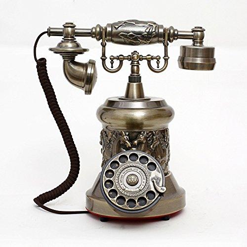 motes uvar Europea antigüedad Teléfono _ Vintage Antiguo Teléfono metal Rotary Teléfono elegir Dong–Mode
