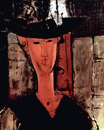 Das Museum von Ausgang–Modigliani–Lady mit Hut–Poster A3