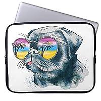 UDDesign水彩画 熱帯子犬 12.5インチ ブリーフケース 撥水 12.5インチラップトップ / 13インチ New MacBook Pro Touch Bar搭載/ウルトラブック用 PCバッグ