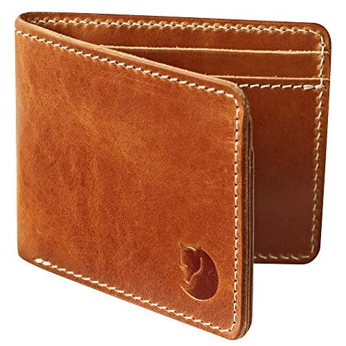 Fjällräven Övik Wallet Portamonete, 15 cm, Marrone (Leather Cognac)