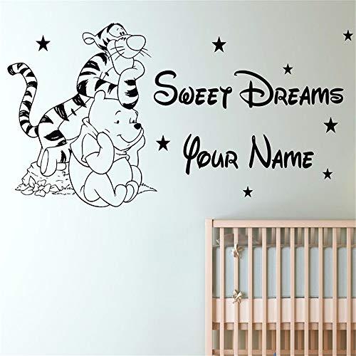 Winnie The Pooh Wandtattoo Aufkleber Benutzerdefinierte Name Tigger Kinder Schlafzimmer Abnehmbare Vinyl Wandaufkleber Wandtattoos Home