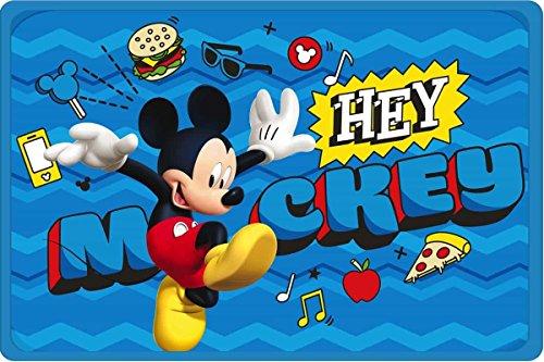 Star Licensing 48074 Tappeto Mickey, PVC-Poliestere, Multicolore, 40 x 60 cm