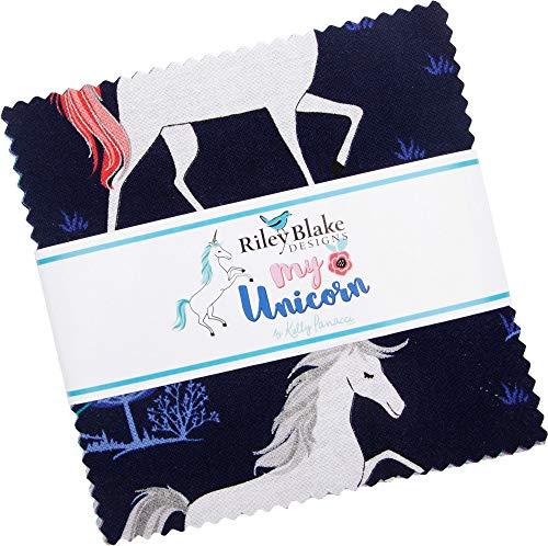 Kelly Panacci My Unicorn 5' Stacker 42 5-inch Squares Charm Pack Riley Blake Designs 5-8200-42